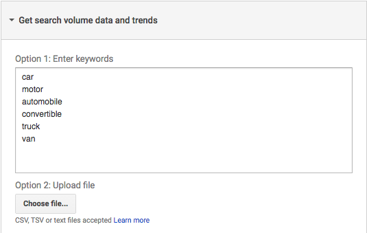 Get search volume data and trends