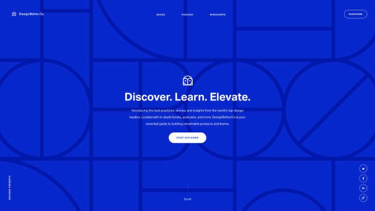 A screenshot of DesignBetter's website