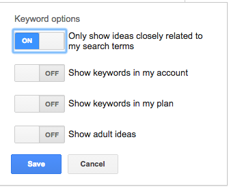 Keyword Options