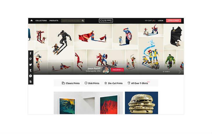 A screenshot of Curioos.com