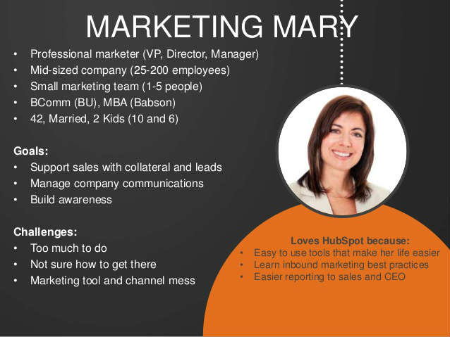 An example buyer persona