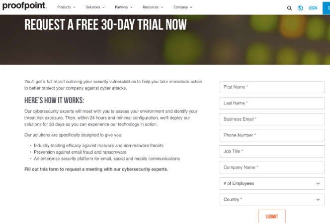 Proofpoint-Free-Trial-Page