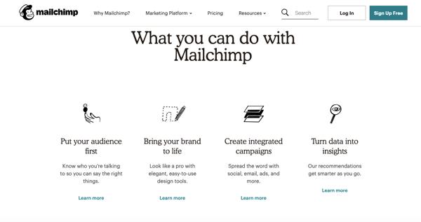 MailChimp's SaaS product