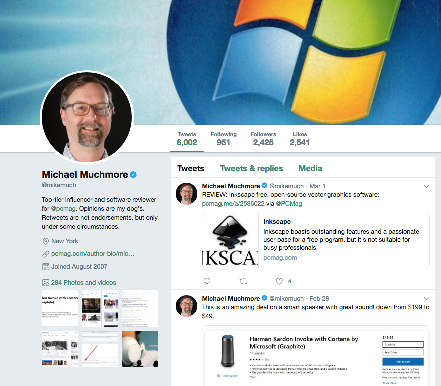 influencer Michael Muchmore
