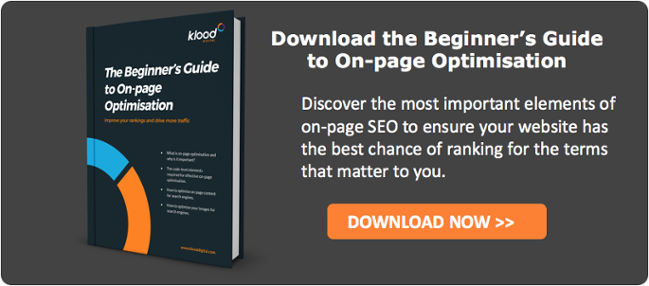 Download the Beginner's Guide to On-page Optimisation