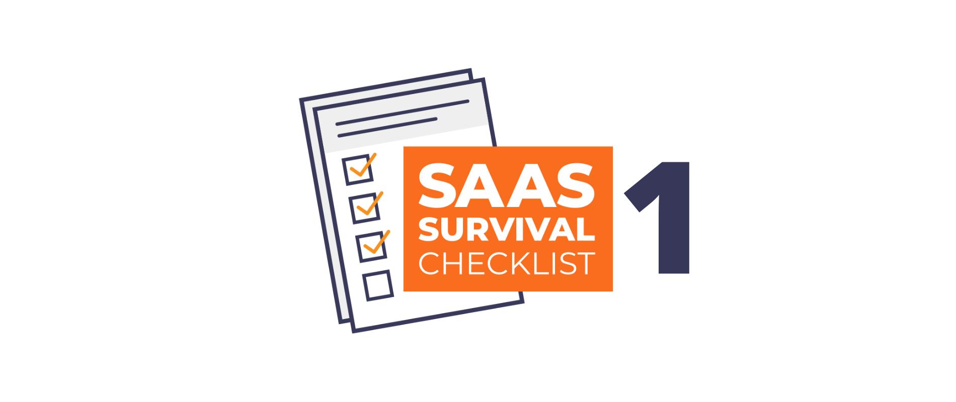 SaaS Sales and Marketing Survival Checklist